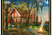 Terry Redlin Jigsaw Puzzles / White Mountain Jigsaw Puzzles by American Artist Terry Redlin that was popular for painting outdoor themes and wildlife.