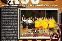Football Scrapbook Layouts / by Michelle Ferguson
