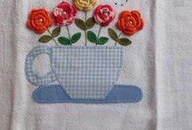 trabalhos em crochê
