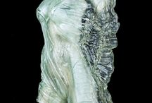 Glas art / Galss, art, bodycast, artist, gallery, torso, public decoration, comission works,