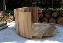 Hot tub in wood
