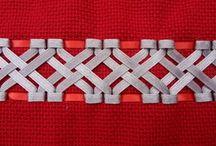 bordado com fitas