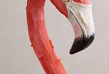 flamingo peacock kitsch kooky lovely pink