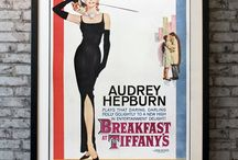 Audrey Hepburn / A monumental one sheet from an equally magnificent film. This rare US poster has the iconic artwork for Audrey Hepburn's most popular film! Skillfully adapted from the Truman Capote novella, this darling movie had it all...wit, romance, humor, New York City and Tiffany's in the 1960s, Audrey Hepburn, a score by Henry Mancini, and sigh. that iconic Givenchy black dress.