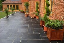 Patio Designs / Flagstones, Tiles & Stone Flooring can be arranged in many different ways to achieve stunning finished results.  Visit www.westminsterstone.com and www.nationaltrustpaving.com to discover huge ranges of patio products.