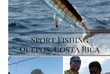 Sport Fishing in Quepos Costa Rica / Experience the trill of Sport Fishing in Quepos, Costa Rica for Big Game Fish such as Sailfish, Marlin, Mahi-Mahi and Yellow Fin Tuna.
