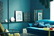 g r e e n _ & _ b l u e / green and blue interiors