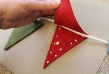 Como hacer banderines navideños