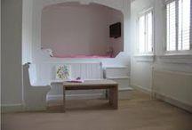 slaapkamer Eef / blauw wit (met evt. roze) meisjesslaapkamer