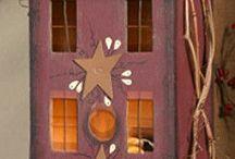 Wooden light houses for Christmas
