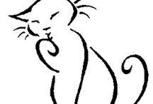 рисунок кошки