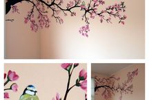 tree paintings for bedroom wall