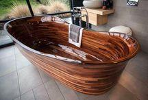 Wood bathroom