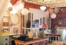 Art Studio Spaces / Painting/clay/sewing etc space organization