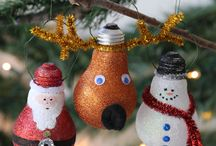 make your own Christmas ornaments and tags