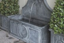 Garden fountains and features