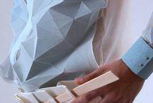 origami en la indumentaria