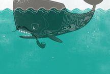 Flat, Textured Illustrations