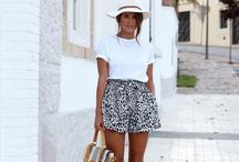 Black shorts outfit summer