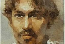 Watercolor portraits and still life's