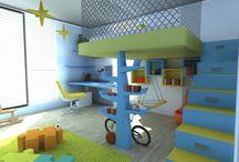 dětské pokoje, inspirace