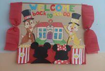 Teacher decoration / Bulletin boards, teacher´s ideas, windows decorations, classroom decorations, party decorations