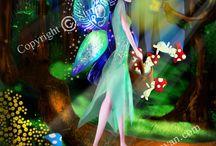 Fairies Digital Paintings / Fairies,painting,printable