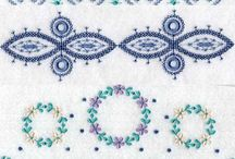 Embrodery ideas for napkins and other things..