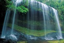 Cascading falls / Waterfalls around the world and fast flowing waters / by Bonnie Panes
