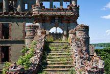 Старые замки и ветражи