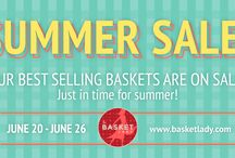 2016 SUMMER SALE / Grab Your Shades And Head Over To Our Brightest Sale Of The Season - The solstice is here! Grab your shades and head out into the longest stretch of sun we'll have all year. But before you do, don't forget to stop by The Basket Lady for dazzling savings on our most versatile storage baskets. Whether for outdoor toys, pool accessories, gardening tools or grilling supplies, our roomy storage baskets never disappoint. And did we mention, they're sturdy enough to handle sun, wind dirt and damp?