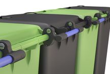 BinPin bins Tidy and safe / New locking system BinPin for wheelie bins and Bicycles