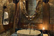 Rustikke badeværelser
