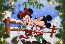 Tél- Karácsony - Mickey és MInnie