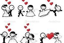 personnages mariés