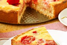 torta di crema cotta e fragole