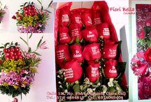 Amor y Amistad / Arreglos florales de rosas y flores impresas para Amor y amistad o San Valentin.