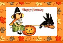 Free Printable Halloween Cards / Our Free Printable Halloween Cards are offered in a few different sizes, but all are filled with familiar symbols of the season.  From small Cards for Kids to our full-sized Greeting Cards, you'll find some spooky, some whimsical but all are a great way to save money while staying in touch with those you care about the most.