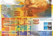 Billets Suisse / Les billets Suisse en circulation sont : de 10, 20, 50, 100, 200, 1000 francs suisse. La Neuvième série de billet est en train de sortir! Le premier nouveau billet de 50 francs est entré en circuration en 2016. Les suivants seront les billets de 10 et 20 francs en cours de 2017, ensuite le billet de 200 francs en 2018, et les derniers billets à entrer en circulation devraient être ceux de 100 et 1000 francs, en 2019.