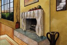 Stone Fireplaces Reconsidered / http://www.mstoneandtile.com/stone-fireplace-mantels/stone-fireplaces-reconsidered/