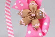 Pink gingerbread headband