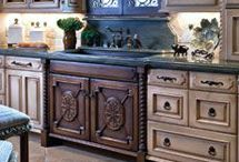 Tile and glass cabinets