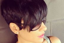 short hairstyles / by Tiara Townsend-Barnes