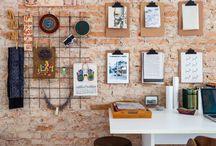 Decoração jovem para escritório e home office / Idéias criativas e despojadas para decoração de escritórios e home offices.