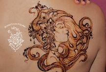 Face henna / my art henna face :) beautiful mehindi designs