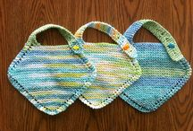 Knitting - baby bibs