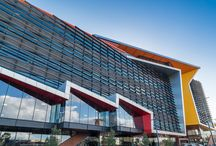 Brimbank Community Centre / One of the most dynamic looking community hubs in Victoria, Louvreclad products have provided a fantastic finish to the 6 level, $52 million building with the use of architectural window Screening