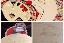 ExpoClown / La mia creatura/espositore per la band Velodrama  Legno, acrilico e istallazione LED