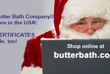 Christmas '14 carousel scenes for web shop at butterbath.com / In a rush this year - only had time to pull regular clip art and post some text on top of it for my web shop carousel scenes at butterbath.com #ButterBath #FaceScrub