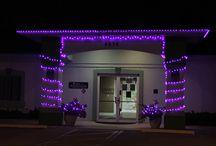 Lighting Up Purple